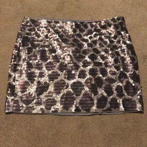 Express Embellished Sequined Skirt